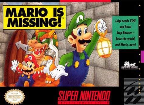 mario is missing snes super nintendo