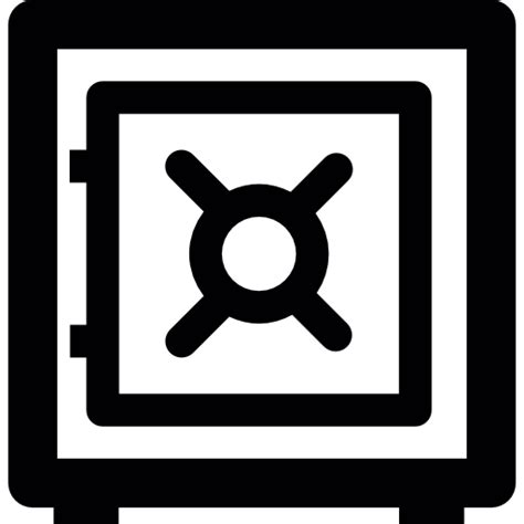 caja fuerte en banco caja fuerte de banco iconos gratis de interfaz