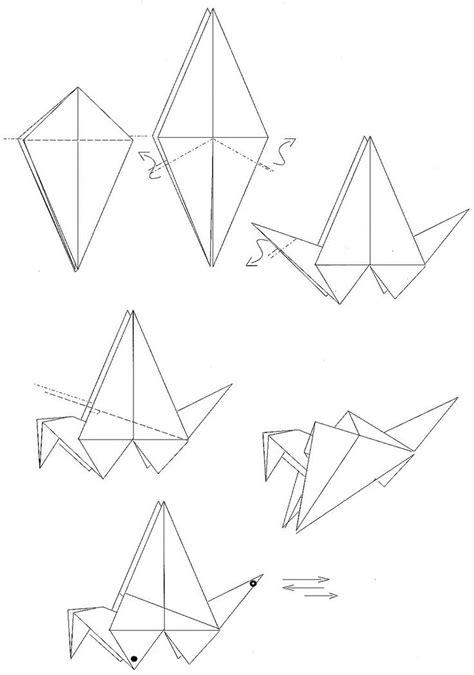 Origami Plans - plan origami grue qui bat ailes oiseau origami