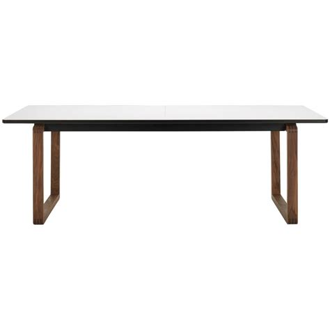 bolia dt20 dining table white laminate top lacquered