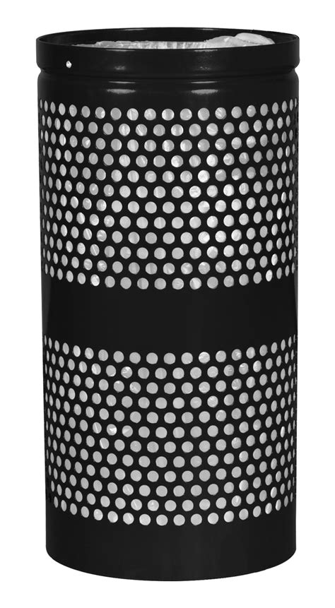 Landscape Forms Waste Receptacles 20 Gallon Landscape Series Perforated Waste Receptacle