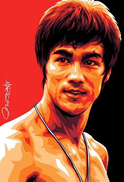 bruce b bruce lee art by meltendo