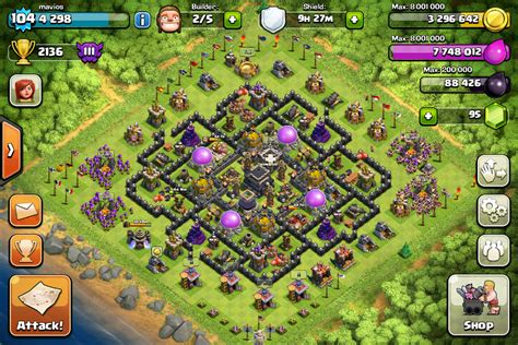 layout coc th9 anti giant the gallery for gt th8 war base anti everything