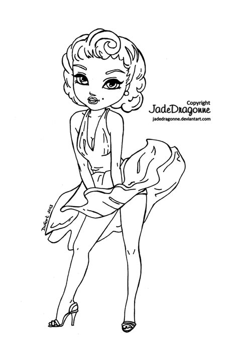 marylin monroe coloring page coloring pages drawings marilyn monroe lineart by jadedragonne on deviantart