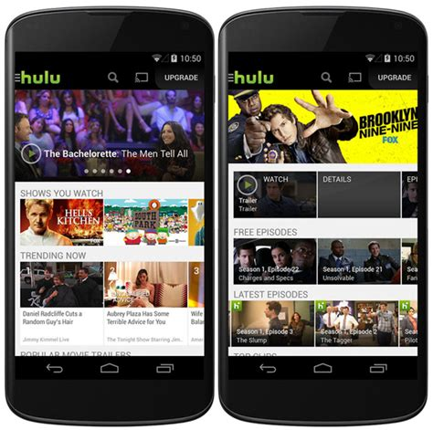 hulu for android hulu plus app for android updated with more free content geeky gadgets