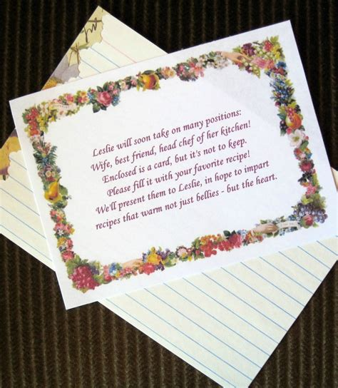 recipe poem for bridal shower contentewe bridal shower tea invitaions