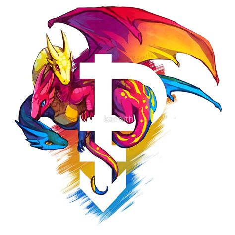 pan pride dragon  kaenith redbubble