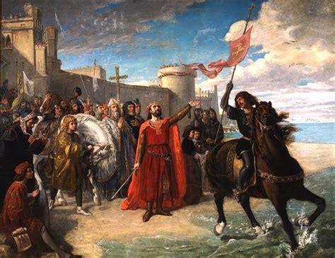 File:Alfonso X el Sabio tomando posesión del mar después de la conquista de Cádiz. Matías Moreno