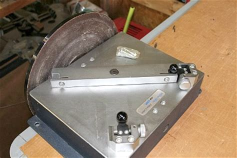"used itw amp 12"" inch miter mitre disc sander, used"