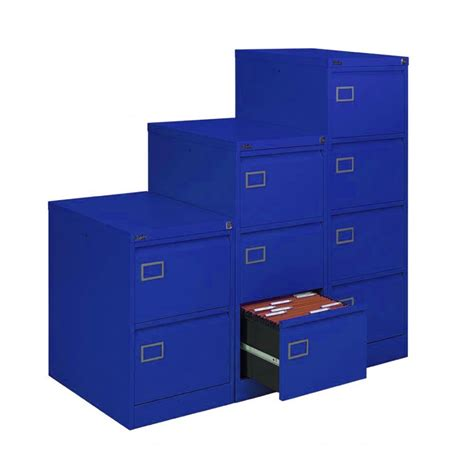 blue metal filing cabinet royal blue filing cabinet 4 drawer executive