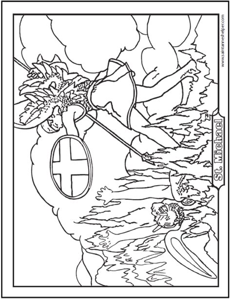 saint michael prayer and coloring page