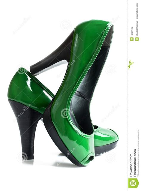 green high heels shoes stock photo image 16700600