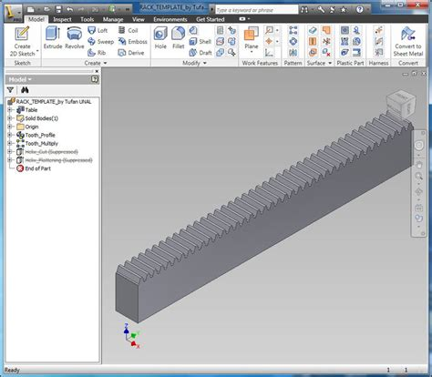 3d templates for autocad rack gear template according to din867 and iso53 metric