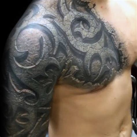 stone tribal tattoo 80 tribal shoulder tattoos for masculine design ideas