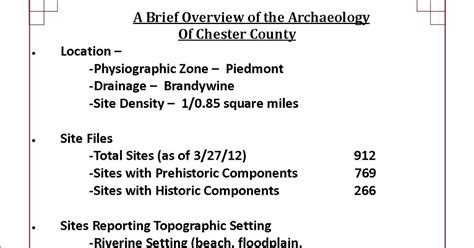chester county section 8 this week in pennsylvania archaeology chester county
