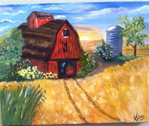 landscape oil painting modern art  gallery wrapped
