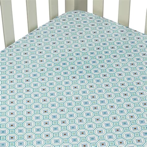 Octagon Baby Crib Caden 174 Vintage Collection Crib Sheet In Blue Octagon Bed Bath Beyond