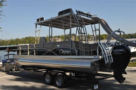 aloha pontoon aloha pontoons mahalo series 260 upper sundeck 2015 for