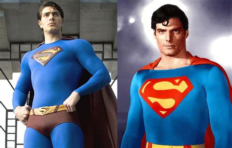 superman christopher reeve vs brandon routh superman reboot first look at henry cavill as the man of