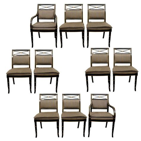 drexel heritage dining room chairs set of eight regency style dining chairs by drexel
