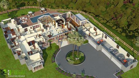 Exterior House Design Software Free Online hotel resort 3d floor plan by yantram studio 3d artist