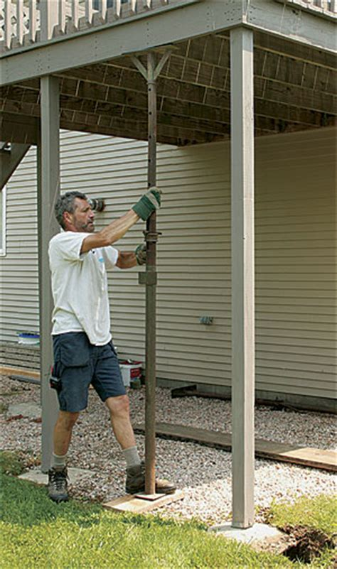how to fix a sinking front porch an deck safe homebuilding