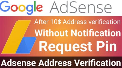 adsense request new pin how to request adsense new pin for address verification