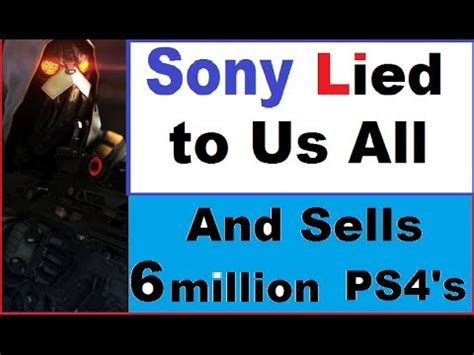 sony lied to us all? shadow fall really 720p. ps4 sold 6