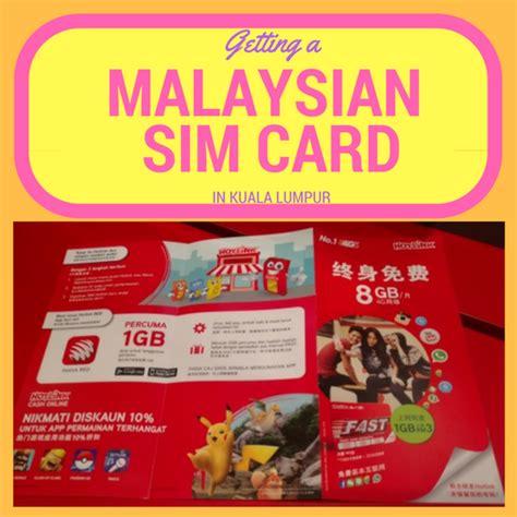 Sim Card Malaysia how to get a sim card as a tourist in kuala lumpur
