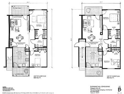 cohousing floor plans pleasant hill cohousing