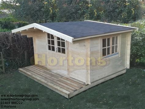 The Shed Reigate by 4x4m Reigate 28mm Wall Logs Hortons Portable Buildings Ltd