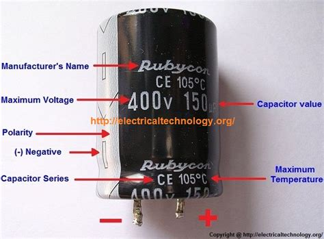 capacitor polarity in circuit general capacitor nameplate rating electrolytic capacitor