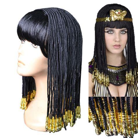 black men s medium braided wigs coslive cleopatra women cosplay costume long black braid