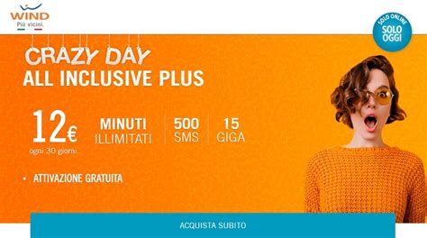 offerte wind mobile offerte wind mobile 15 gb e minuti illimitati in
