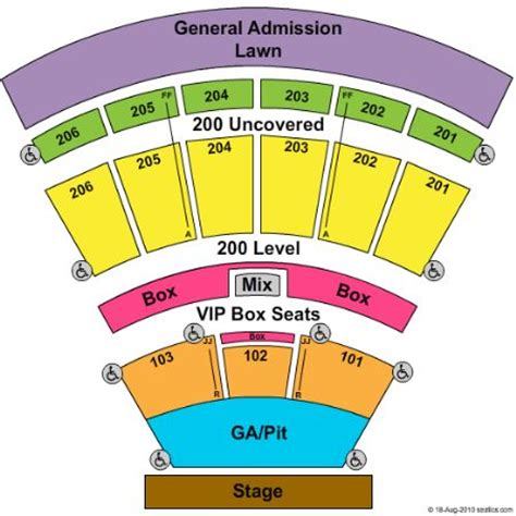 Toyota Pavilion Seating Chart Toyota Pavilion At Montage Mountain Tickets And Toyota