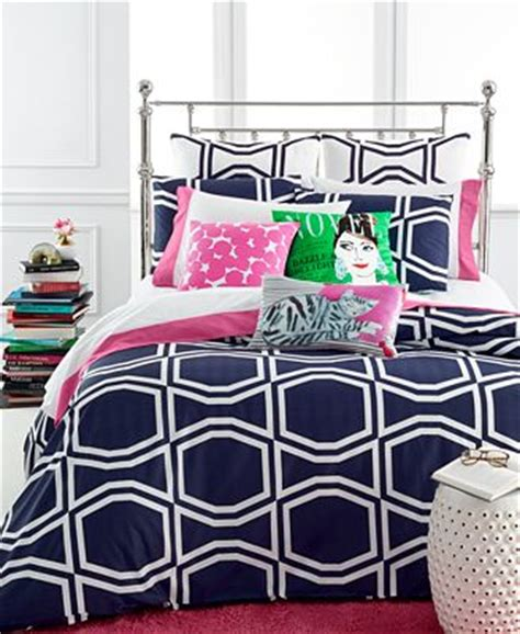 Kate Spade New York Bow Tile Navy Bedding Collection Kate Spade Bed Set