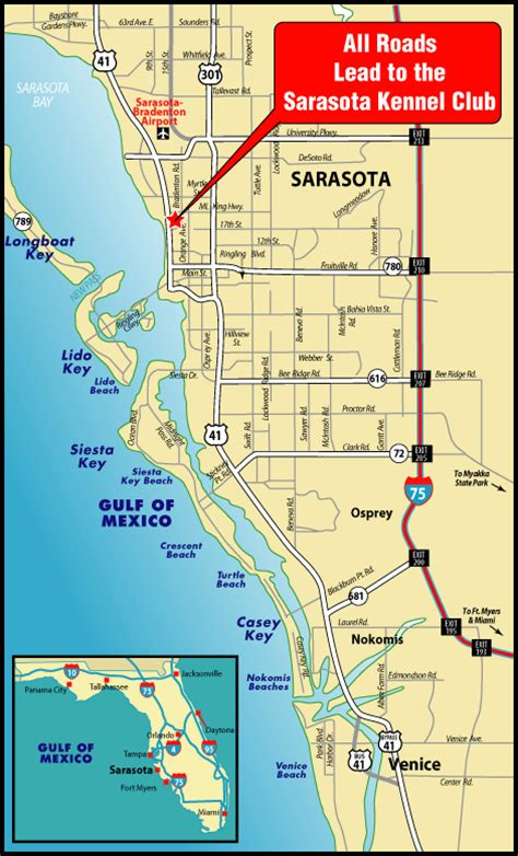 sarasota map map of sarasota world map 07
