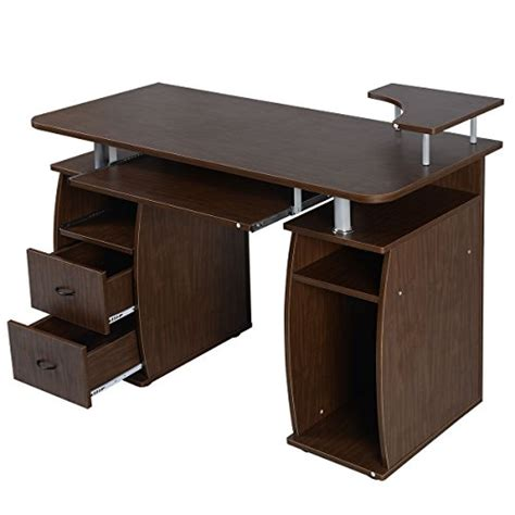 Walnut Computer Desks For Home Walnut Computer Laptop Desk Home Office Workstation Pc Table Durable Wahmmo