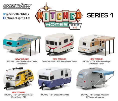 Greenlight 1959 Catolac Travel Trailer hitched homes greenlight collectibles