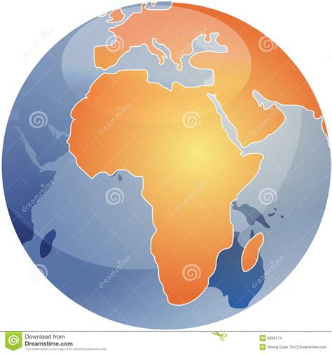 africa map globe map of africa on globe stock images image 6036174