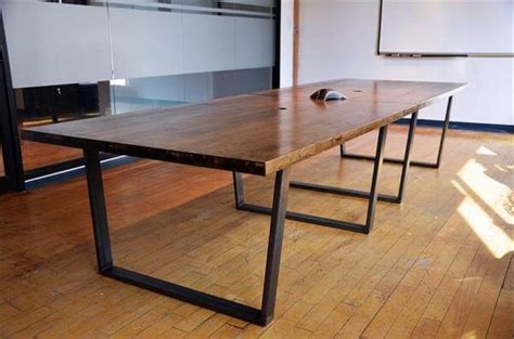 Diy Conference Table with Diy Industrial Pallet Conference Table 101 Pallets