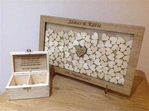Wedding Box And Guest Book by Personalised Drop Box Oak Frame Wedding Guest Book Ebay