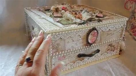How To Find Blueprints Of Your House Shabby Vintage Altered Box For Craft Fantastic Youtube