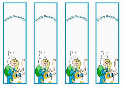printable birthday bookmarks adventure time bookmarks birthday printable