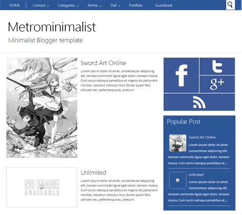 metrominimalist blogger template themes and templates