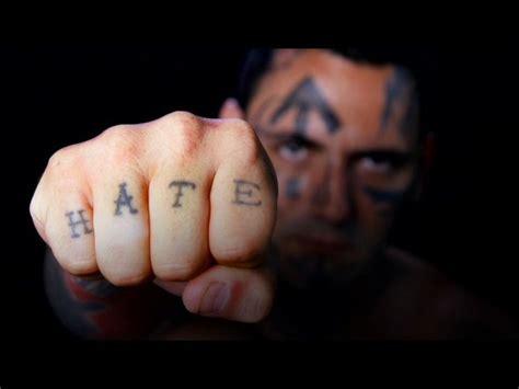 finger tattoo love hate top 5 world s strangest tattoos sick tattoos blog and