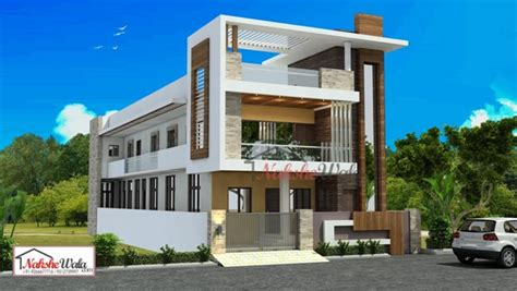 2 Storey Commercial Building Floor Plan by 3d Front Elevation Design Indian Front Elevation Kerala