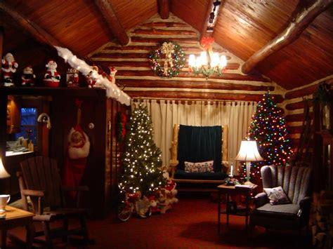 vist santa in his cabin home