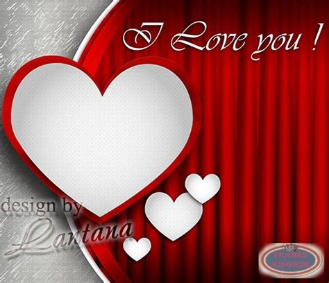Template Photoshop Love | love psd background for photoshop with heart frame