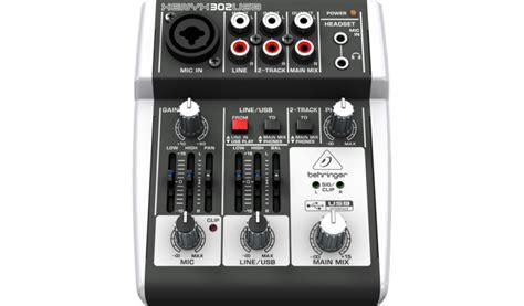 Mixer Xenyx 302 Usb behringer 302usb xenyx 5 input mixer with usb audio interface